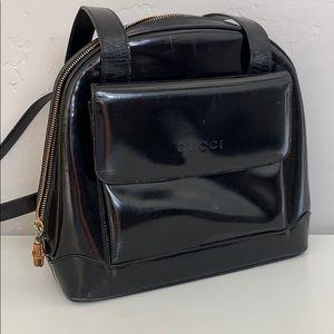 Auth Vintage GUCCI Patent Leather Bag